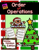 Christmas Math Order of Operations Math Center