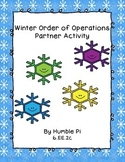 Order of Operations Winter Partner Activity- 6.EE.2c