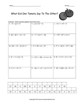 Order of Operations 3:  With Negative Numbers (Bundle)