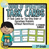 Order of Operations Without Parentheses {Two-Step Problems}
