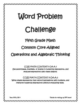 Order of Operations Word Problem Challenge