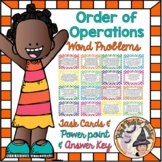 Order of Operations Word Problems Task Cards + Smartboard Slides + Powerpoint