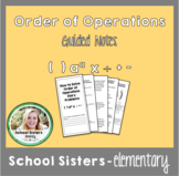 Order of Operations Word Problems Guided Notes