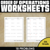 Order of Operations Worksheet 5th Grade - FREE