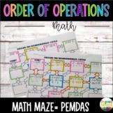 Order of Operations Worksheet, Maze
