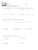 Order of Operations Worksheet (w/ answers)