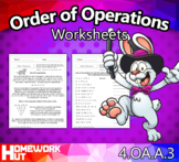 Distance Learning - Order of Operations Worksheets