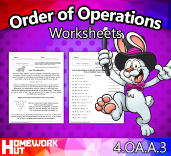 4.OA.3 - Order of Operations Worksheets
