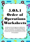 Order of Operations Worksheets