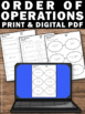 Order of Operations Worksheets, 5th Grade Math Review Test