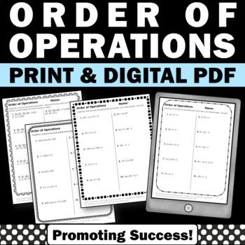 Order of operation worksheet teaching resources teachers pay teachers order of operations worksheets order of operations worksheets ibookread Read Online