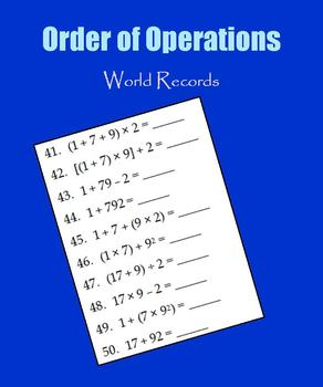 Order of Operations:  World Records