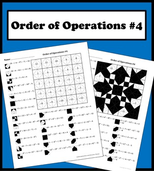 Order of operations advanced coloring worksheet by aric thomas order of operations advanced color worksheet 3 225 product thumbnail ibookread Read Online