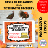 Order of Operations and Distributive Property | Google™ Cl
