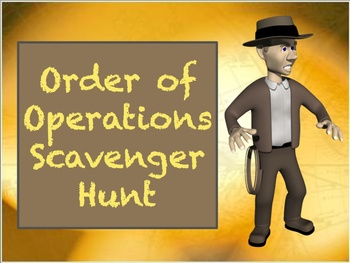 Order of Operations and Expressions Scavenger Hunt Activity