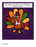 Order of Operations and Ratios:  Turkey Glyph