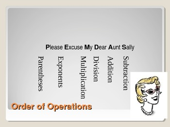 Order of Operations (and more) PPT