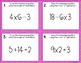 Order of Operations {for Beginners} Task Cards