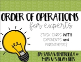 Order of Operations {for Experts} Task Cards