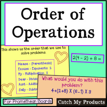 Order of Operations for Promethean Board (Please Excuse My