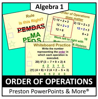 Order of Operations in a PowerPoint Presentation