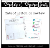 Order of Operations introduction/review
