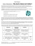 Order of Operations mini-project