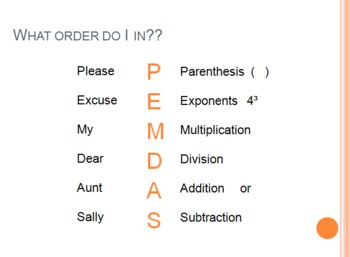 Order of Operations step by step powerpoint