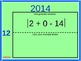 """""""Order of Operations"""" using 2014: Fun Back to School activity with handouts.#2"""
