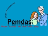 Order of Operations using pemdas