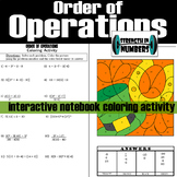Order of Operations w/ Integers St. Patrick's Day Coloring Activity