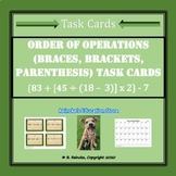 Order of Operations with Braces and Brackets Task Cards