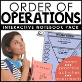 Order of Operations with Exponents Interactive Notebook Se