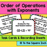 Order of Operations with Exponents Task Cards