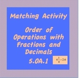 5.OA.1  Order of Operations with Fractions & Decimals