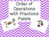 Order of Operations with Fractions Puzzle