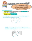 Order of Operations with Grouping Symbols InstaChart