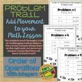 Order of Operations with Integers Problem Trail- Movement in Your Math