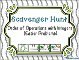 Order of Operations with Integers - Scavenger Hunt (Easier