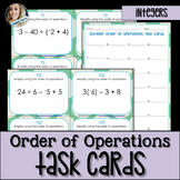 Order of Operations with Integers Task Cards
