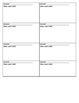 Order of Operations with Negatives, Fractions, and Decimals Scavenger Hunt