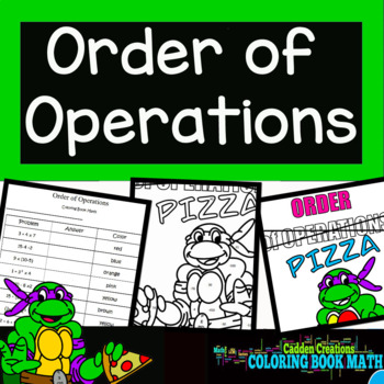 Order of Operations with Ninja Turtles Coloring Book Math