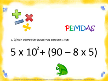 Evaluate Expressions with Whole Number Exponents 6.EE.1