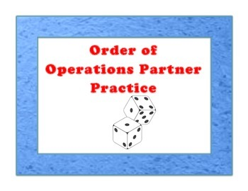 Order of Operations with a Partner 7NS1-3