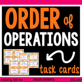 Order of Operations (with exponents) Task Cards