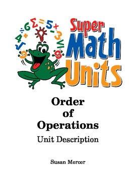 Order of Operations without Memorizing Rules