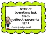 Order of Operations (without exponents) Set 1