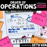 Order of Operations (without exponents) Task Cards