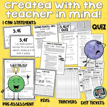 Order of Operations worksheets, activity, and more! 5th grade TEKS 5.4E & 5.4F