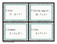 Order of Operations_Algebraic Thinking_Differentiated Task Cards